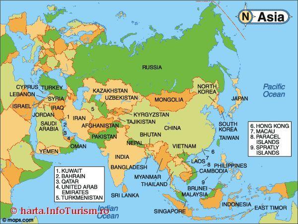 Harta Asia Mapa De Europa Mapa Politico Continente De Asia