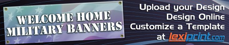 Free Welcome Home Military Banners