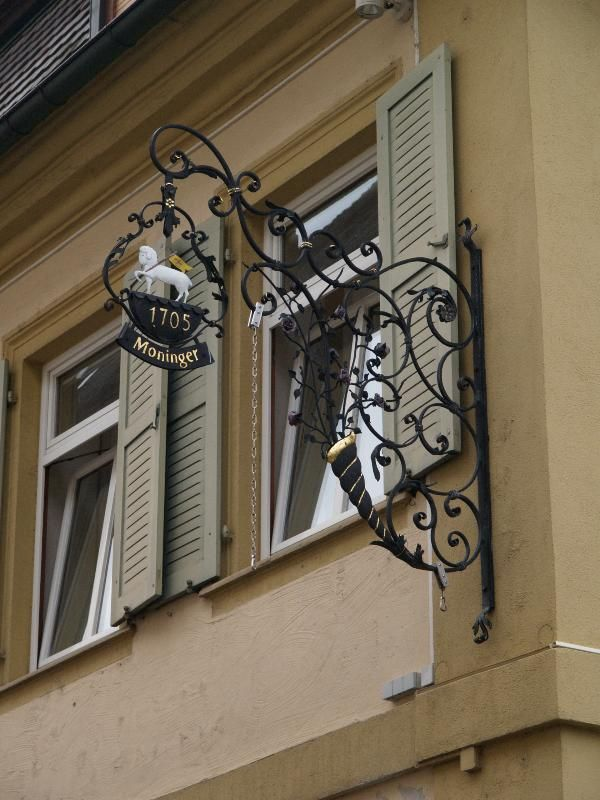 Ettlingen, Germany: Seminarstrasse: ironwork sign (1905)
