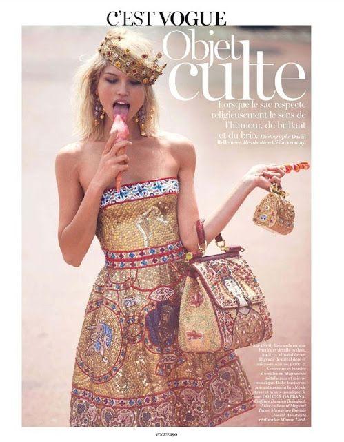 Hana Jirickova by David Bellemere Magazine Photoshoot For Vogue Paris 2013