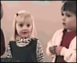 snot kid terrified girl