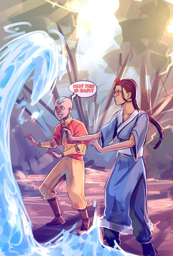 Who teaches Aang fire bending - answers.com