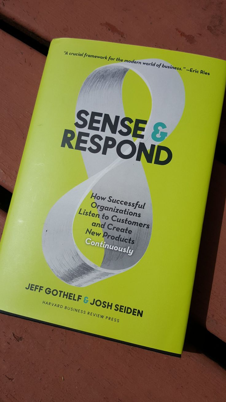 Harvard Biz Review Retweeted Benjamin J. Garber: ‏Sense and Respond is probably the best business book I've read since the Innovator's Dilemma @jseiden @jboogie Already having a big impact. pic.twitter.com/uoIiXNoC8k