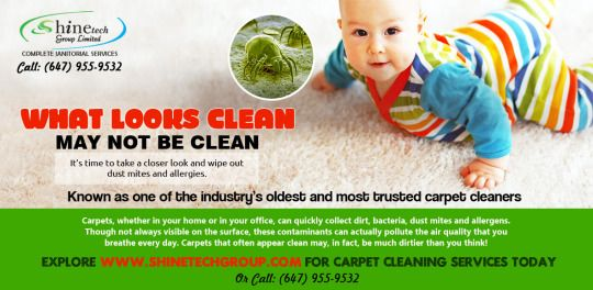 #Cleaning_services for #Carpet #Cleaning. When you call #Shinetech Group you can be sure that you'll be visited by a well-trained #carpet #cleaner #specialist. Our philosophy is simple - provide the best service possible at the lowest price available without compromising on #quality. Call: (647) 955-9532