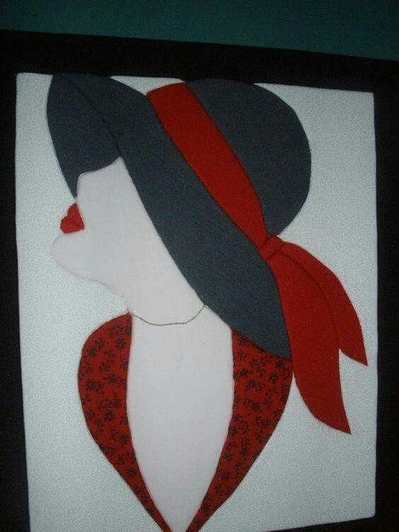Mujer von sombrero
