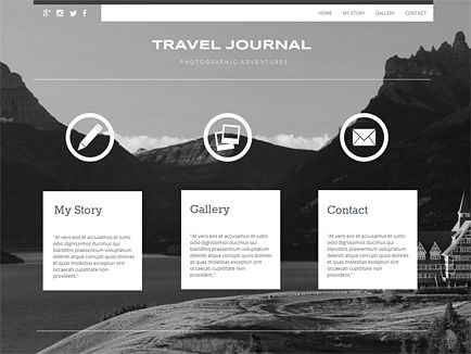 Moonfruit HTML-powered v6 template - Travel #website #design
