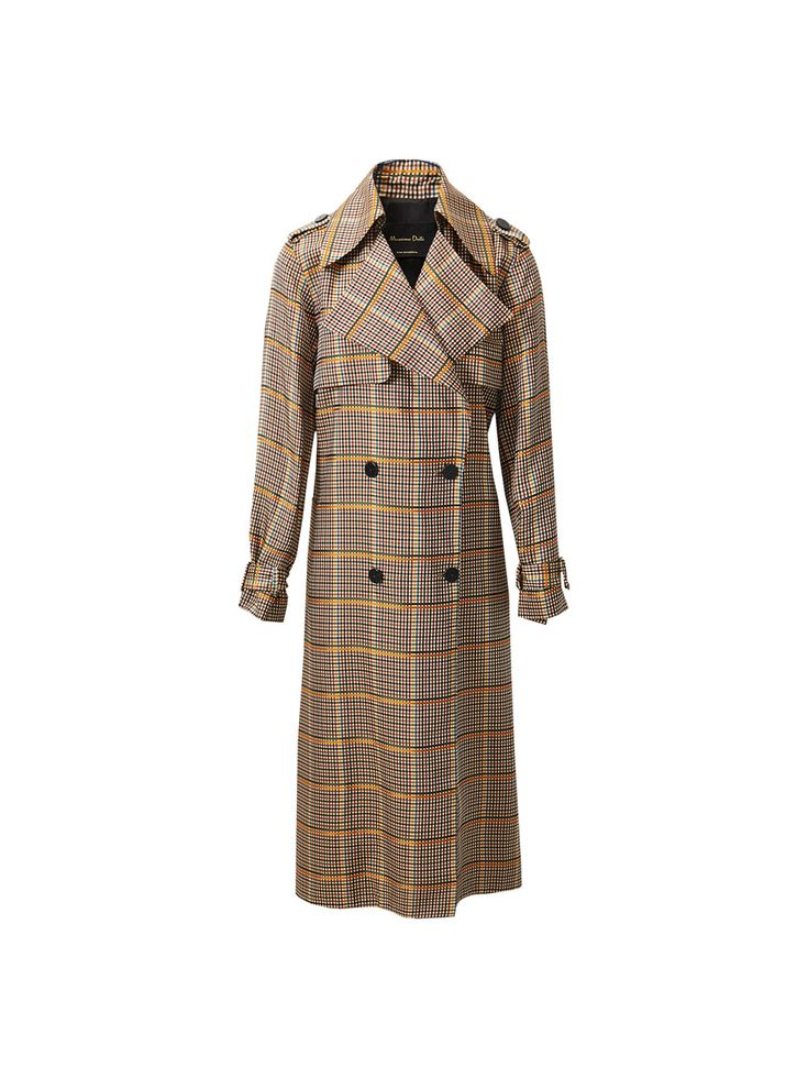 Autumn Winter 2017 Women´s LIMITED EDITION CHECKED TRENCH COAT at Massimo Dutti for 299. Effortless elegance!