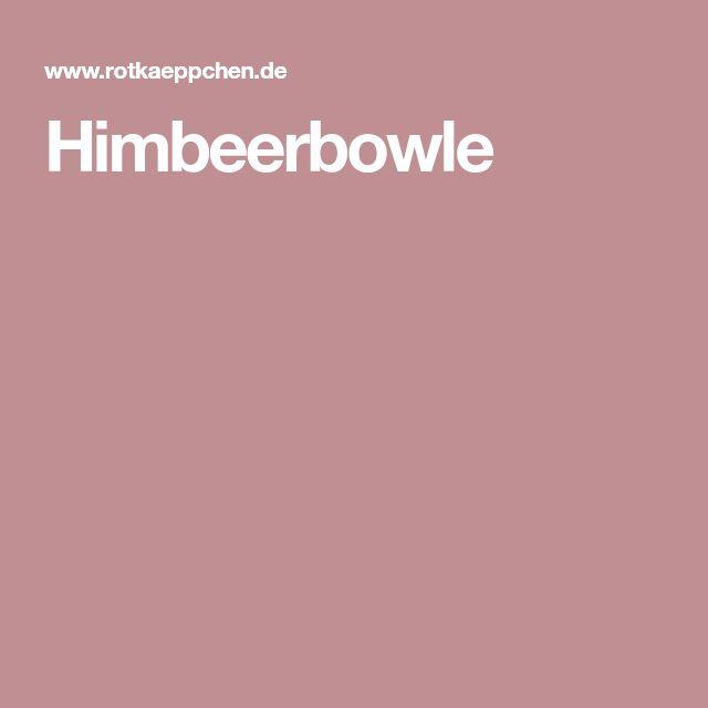 Himbeerbowle