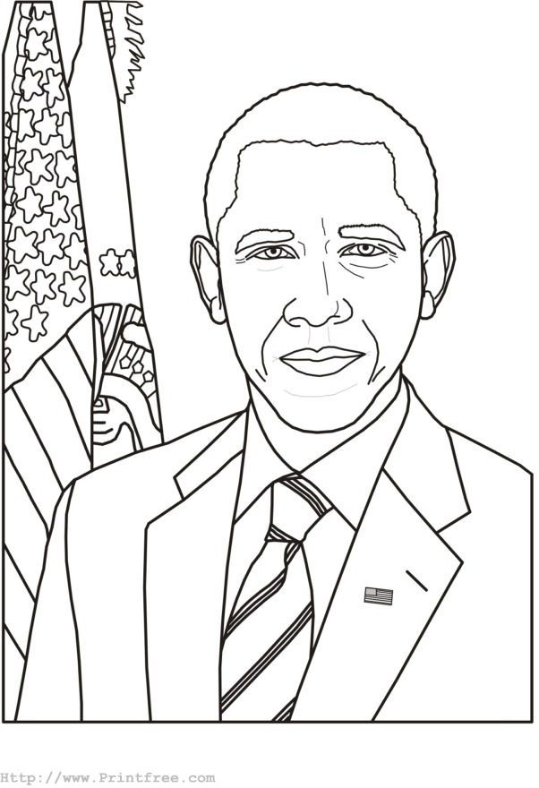 Barack Obama Presidents Day Coloring Page Di 2020