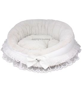 Designer Dog Bed My First Louis Dog Bed White