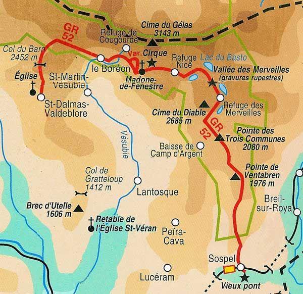 GR54 - Parc National du Mercantour (80km, 5 jours)