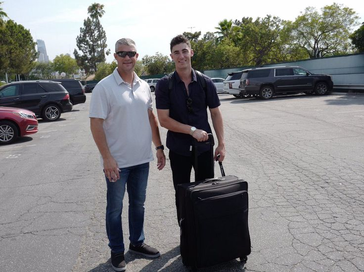 Clay and Cody Bellinger on their way to the 2017 All-Star Game in Miami pinterest// samparra515