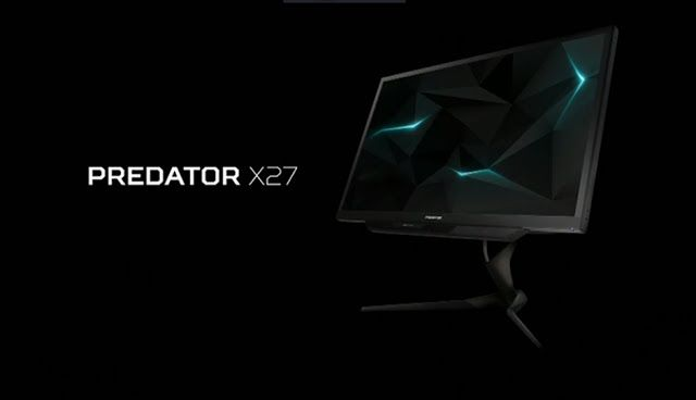Predator X27 и Z271UV - гигантские игровые мониторы от Acer  Acer объявила о расширении своей новой серии мониторов Predator. Z271UV изогнутая модель имеет размер экрана 27 дюймов, который отображает изображение в разрешении WQHD (2560х1440 пикселей), и X27 обработки 99% цветового пространства RGB с разрешением 4K (3840х2160) http://www.texnus.ru/2017/04/predator-x27-z271uv-acer.html