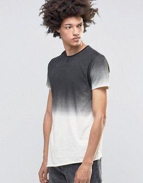 Kubban – Jeans-Muskelshirt in Ombré-Optik