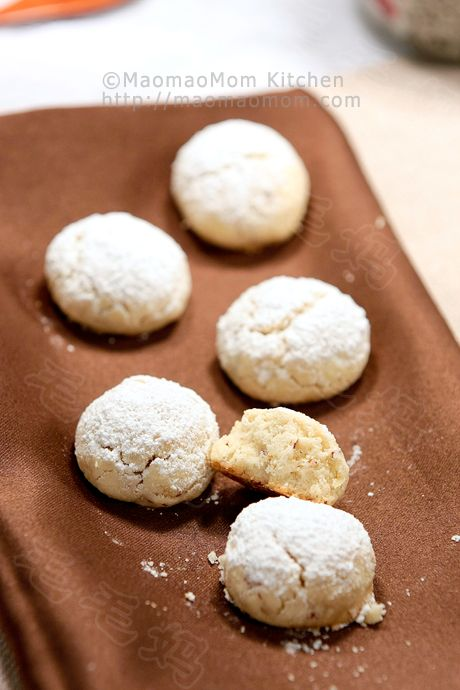 Melt in your mouth【Pecan Shortbread cookies】 by MaomaoMom I made