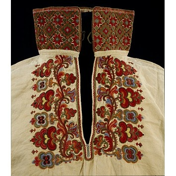 wow embroidery detail-1830-1870 (made) Place: Telemark