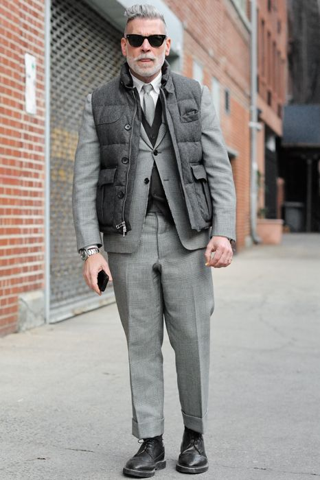 Gotta love Nick Wooster. #streetstyle #menswear #fashionweek