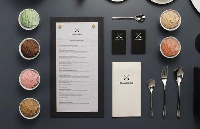 menu-design-2 + BUSINESS CARD DESIGN SIMPLE / BLACK & BEIGE