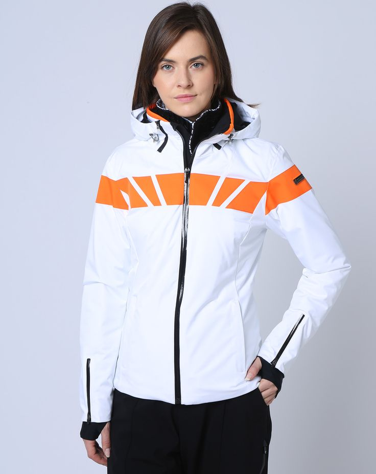 189€ - COLMAR Veste de Ski blanc/lobster
