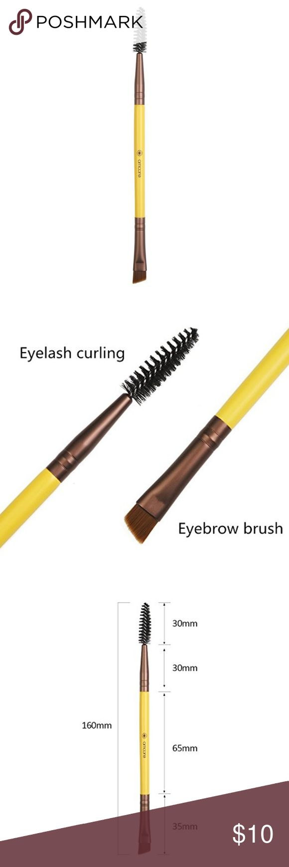 Duo Lash & Angled Eyebrow Brush Create light, feathery strokes on the brow area with a soft hand to mimic fine hairs. Comb through brows before or after makeup application to separate, define and smooth. The Dual ended angled brow brush and spoolie brush is easy to hold, easy to use, easy to clean. The angled brush is perfect for shaping and filling in your brows with precise, defined strokes while allowing for even product/color distribution. Made with synthetic hair for a natural softness…
