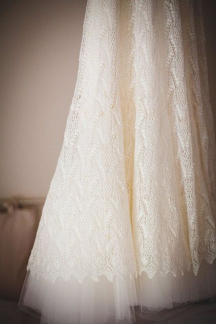 Knitted lace wedding dress Haapsalu lace pattern from ...
