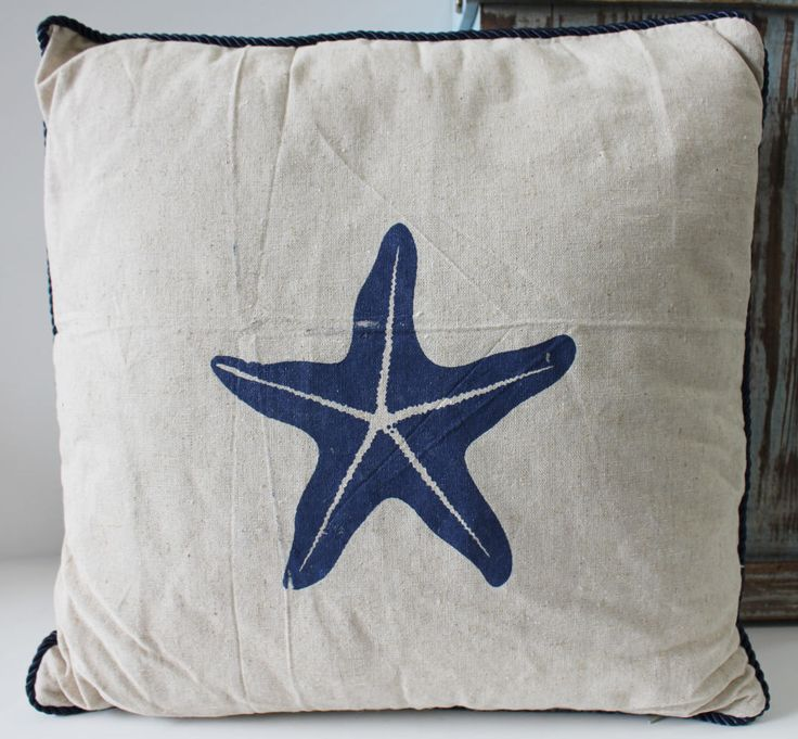 starfish throw pillow beach u0026 saealife home decor california seashell company
