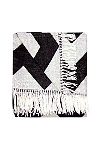 CHEVRON PATTERNED THROW