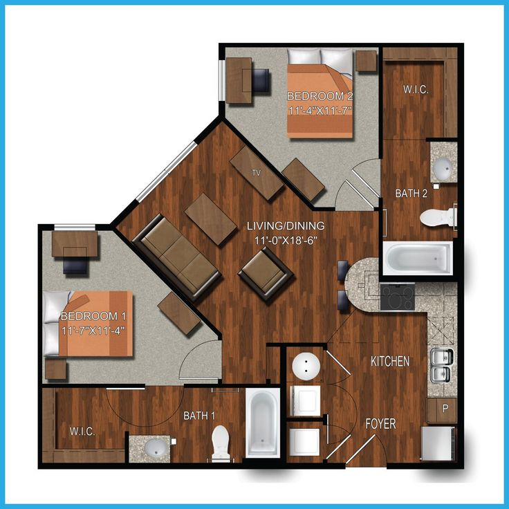 2 Bedroom College Station Apartment