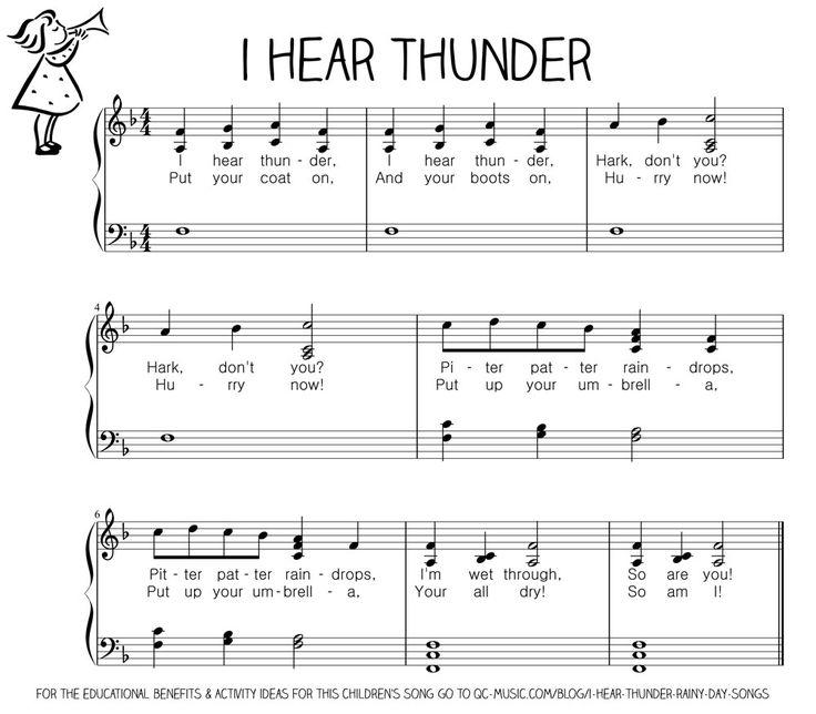 I Hear Thunder : Rainy Day Songs