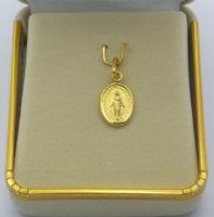 Solid Gold Miraculous Medal.