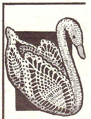 Vintage Crochet Pattern PINEAPPLE SWAN CENTERPIECE | hollywoodpatterns - Crochet/Knitting on ArtFire