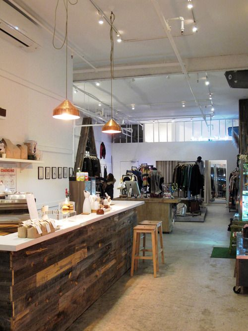 American Two Shot boutique shop, SOHO Love the ideas of mix and match, food and fashions.