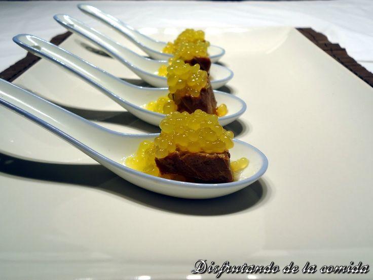 Atún con Soja, Jengibre y Caviar de Mandarina | Postres con estilo