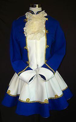 Funkenmariechen Tanzmariechen Gardekleid blau-weiß - Secondhand Dirndl & Kostüme