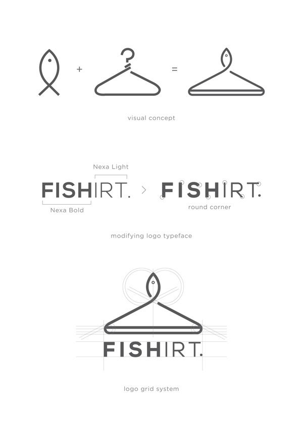 Fishirt : t-shirt company by Ritter Willy Putra, via Behance