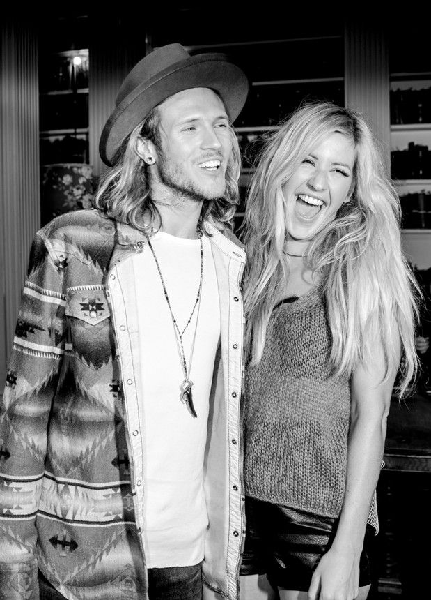 Dougie Poynter and Ellie Goulding Green Carpet Challenge 2014