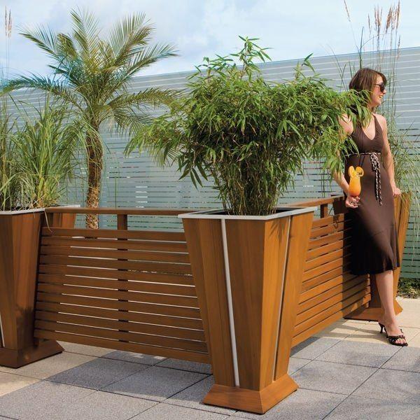 Pots à fleurs et jardinières design- 65 idées de déco extérieure ...
