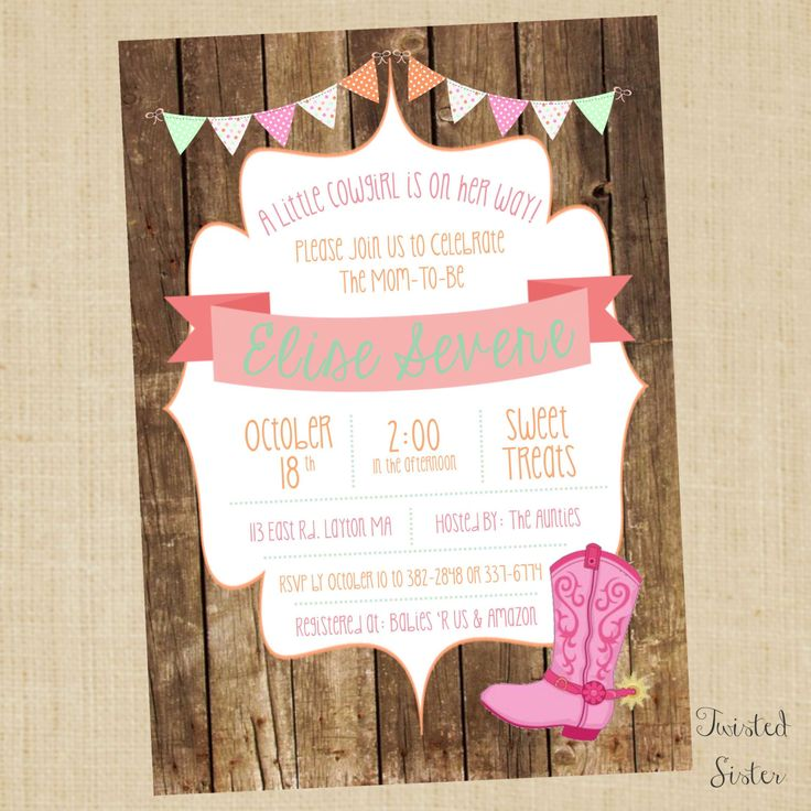 Country Baby Shower Invitations – diabetesmang.info