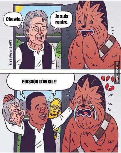 Chewie, je suis rentré... #StarWars
