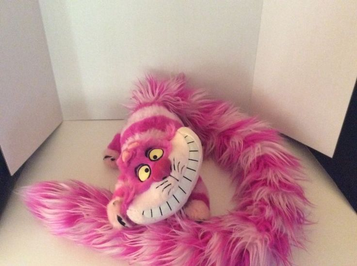 Disney Parks Cheshire Cat Plush Long Fluffy Tail Stuffed Alice in Wonderland | eBay