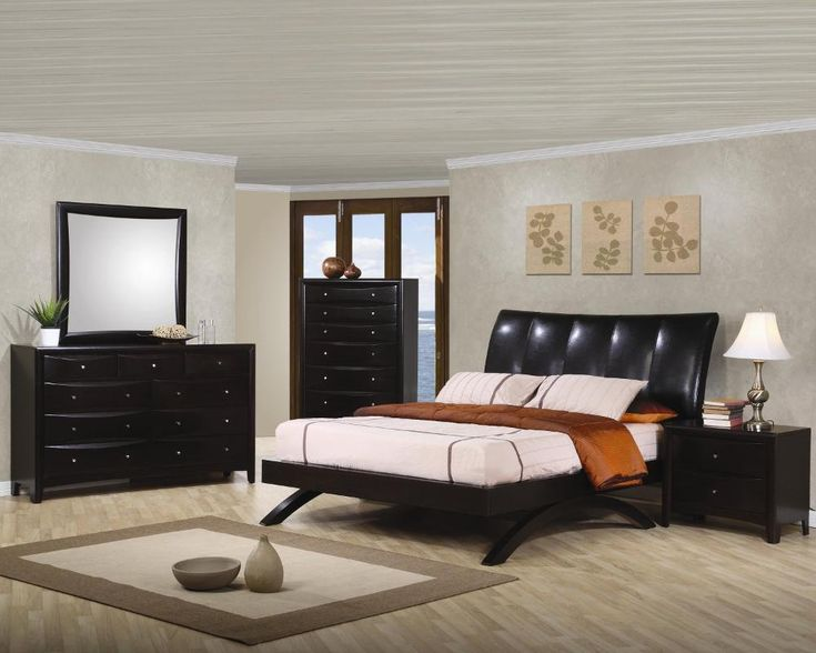 5 pc phoenix faux leather queen upholstered arc bed rich deep espresso wood finish queen bedroom set a