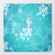 olaf in the snow Canvas Print