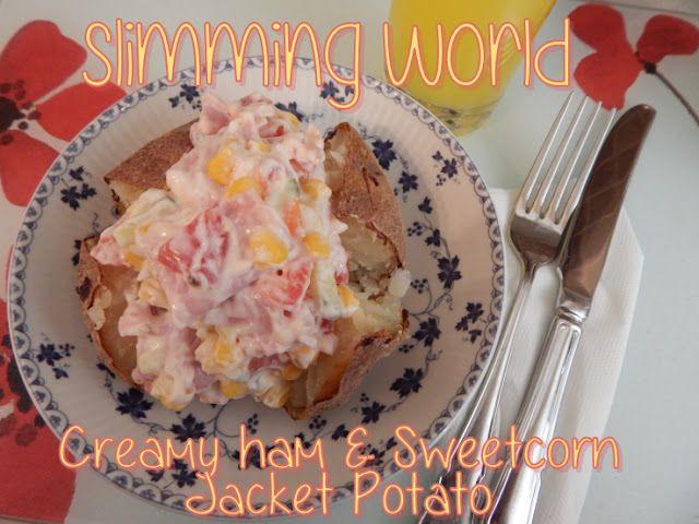 Slimming World Creamy Ham and Sweetcorn Jacket Potato - myTaste.co.uk