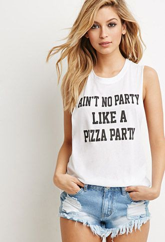 Pizza Party Graphic Tank | Forever 21 - 2000174333
