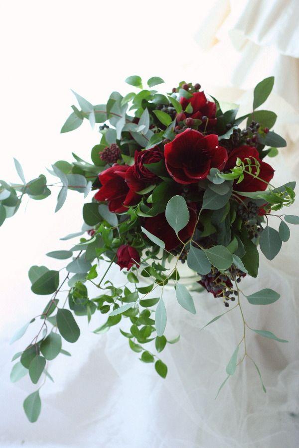 フリースタイルブーケ アマリリスロイヤルベルベット ホテルグランドハイアット様へ : 一会 ウエディングの花