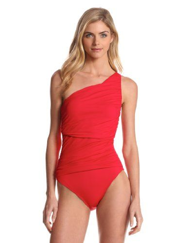 Shirred front one piece