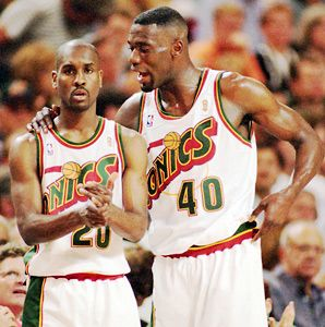 Sonics forever — Gary Payton and Shawn Kemp