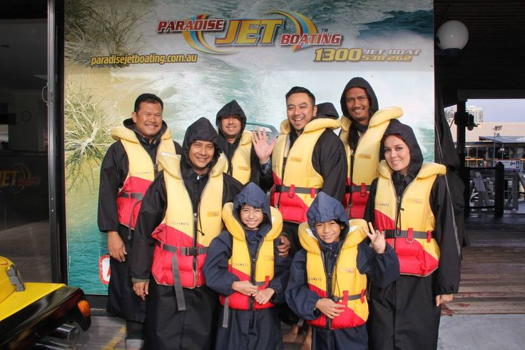 """It was lights, camera, action at Paradise Jet Boating this afternoon with the crew from Malaysian TV program """"Strawberri Karipap"""" coming out for a spin with us. #SKGoldCoast #visitgoldcoast #goldcoastjetboating"""