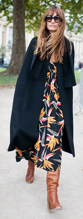 street style | floral dress