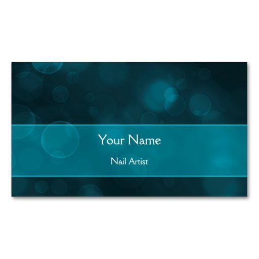 Elegant aqua blue bokeh Business Card